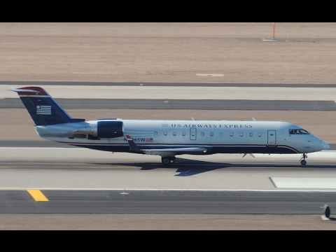 US Airways Express (SkyWest) Bombardier CRJ-200 [N906SW] takeoff from PHX