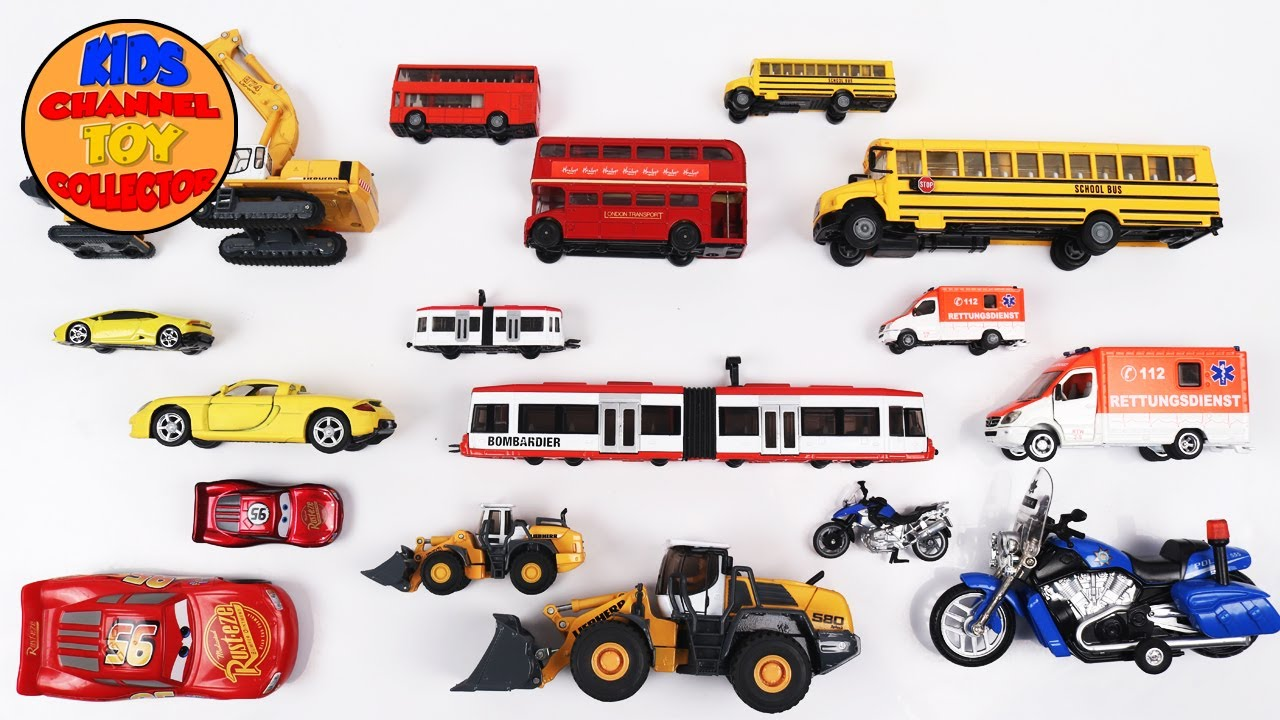 learn big and small size vehicles with name and sound for children kids toddlers kids toys cars