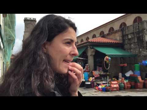 Walking tour of Santiago - the market