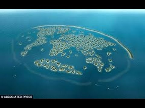 Drone captured View of World Island Dubai