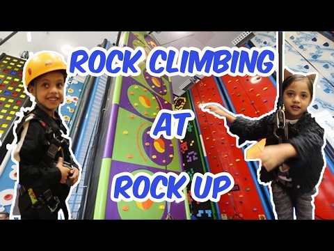 Rock climbing at Rock Up | Guess who took a leap of faith.....?