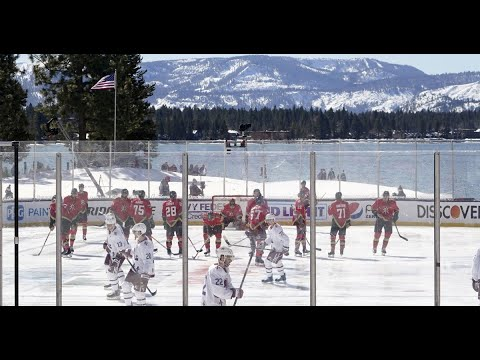 NHL's Lake Tahoe outdoor game delayed 8 hours due to poor ice ...