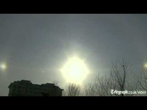 Video  Triple suns over China   Telegraph