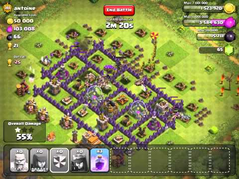 Clash of clans  Maxed town hall 7 is no match for th9 players