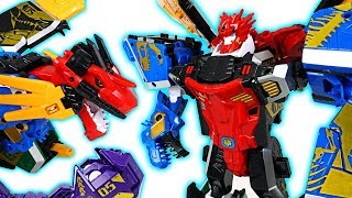 Geo Mecha dinosaur transform 5 combine robots Captaindino, Megadino appeared! - DuDuPopTOY