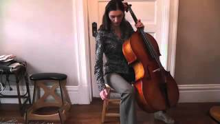 Online Cello Lessons - 2 - How to Hold and Sit With the Cello