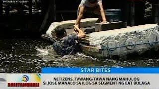 Netizens, tawang-tawa nang mahulog si Jose Manalo sa ilog sa segment ng Eat Bulaga