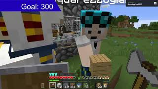 Playing Minecraft survival (1.16.4)