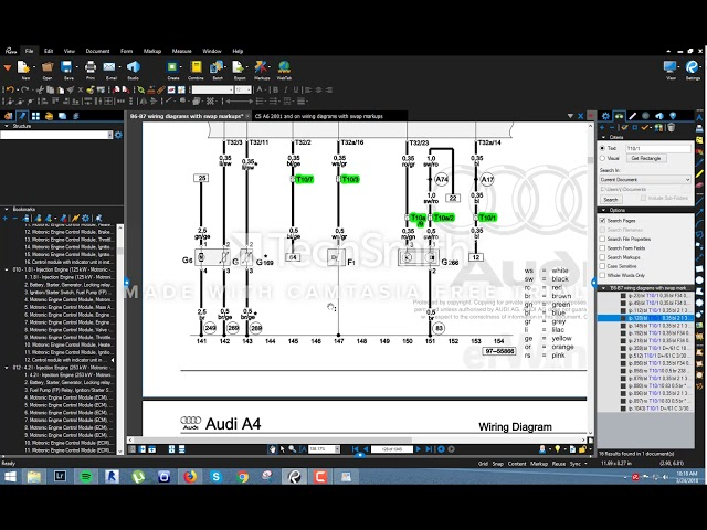 using bluebeam revu to read audi wiring diagrams