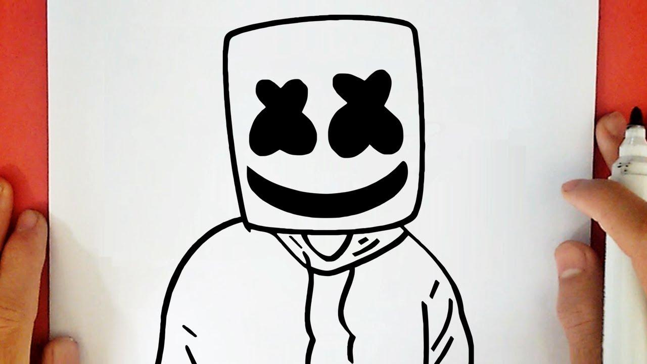 Como Desenhar O Dj Marshmello