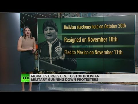 Evo Morales urges UN to stop bloodshed in Bolivia