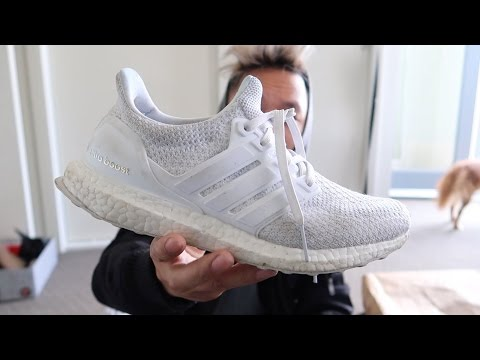 HOW TO WASH WHITE ULTRA BOOSTS!!