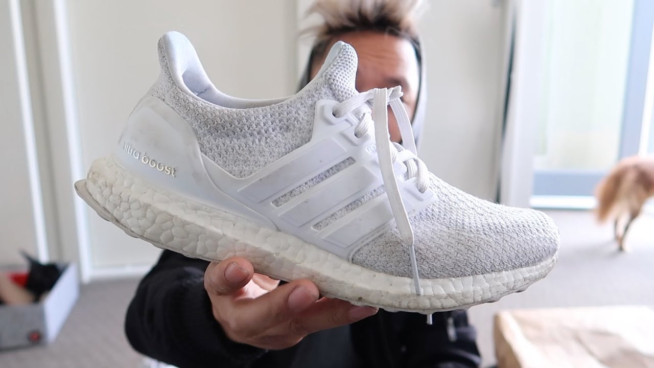 3207e12f6d8c6 HOW TO WASH WHITE ULTRA BOOSTS!! - YouTube