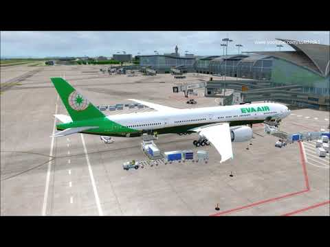 P3D 4 5 PMDG 777 Eva 757 Hangzhou to Taipei with typhoon