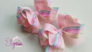 Rosy Ribbon Bow Tutorial DIY by Elysia Handmade Top TEN TRENDING #L...