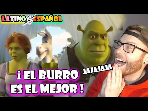 Espanol Reacciona A Doblaje Latino Shrek Ya Merito Llegamos Latino Vs Castellano Asno Shrek Youtube