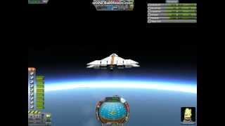 Kerbal Space Program - Heavy Space Plane to space(win)/Orbital insertion(fail)