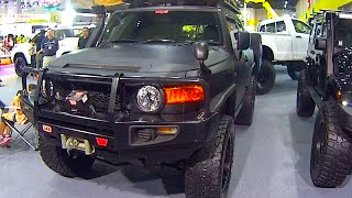 FJ Cruiser Mud Trucks, Custom modified roof camper, Lifted 2015, 2016