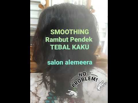 Salon Alemeera Smoothing Rambut Pendek Tebal Kaku Youtube