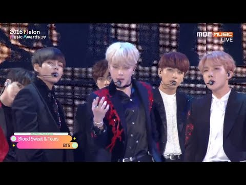 HD 60FPS | BTS - BLOOD SWEAT & TEARS + FIRE live @ MELON MUSIC AWARDS 2016 MMA