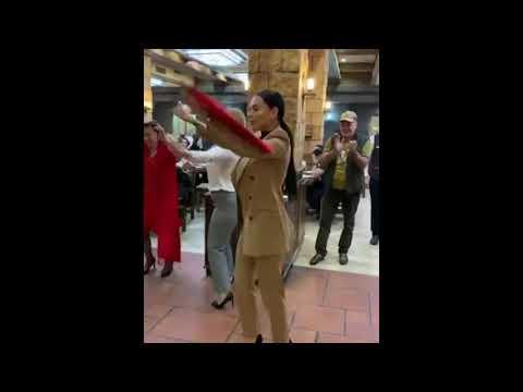 Русская красавица танцует армянский танец - все в восторге