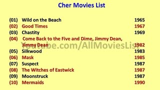Cher Movies List