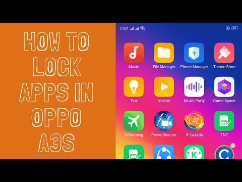How to Lock Apps in oppo A3S