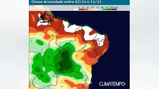 Semana com mais chuva forte na Bahia