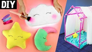 DIY para Crianças ⭐🏠 Casinha de Cano, Luminária de Nuvem e Almofadas Fofinhas