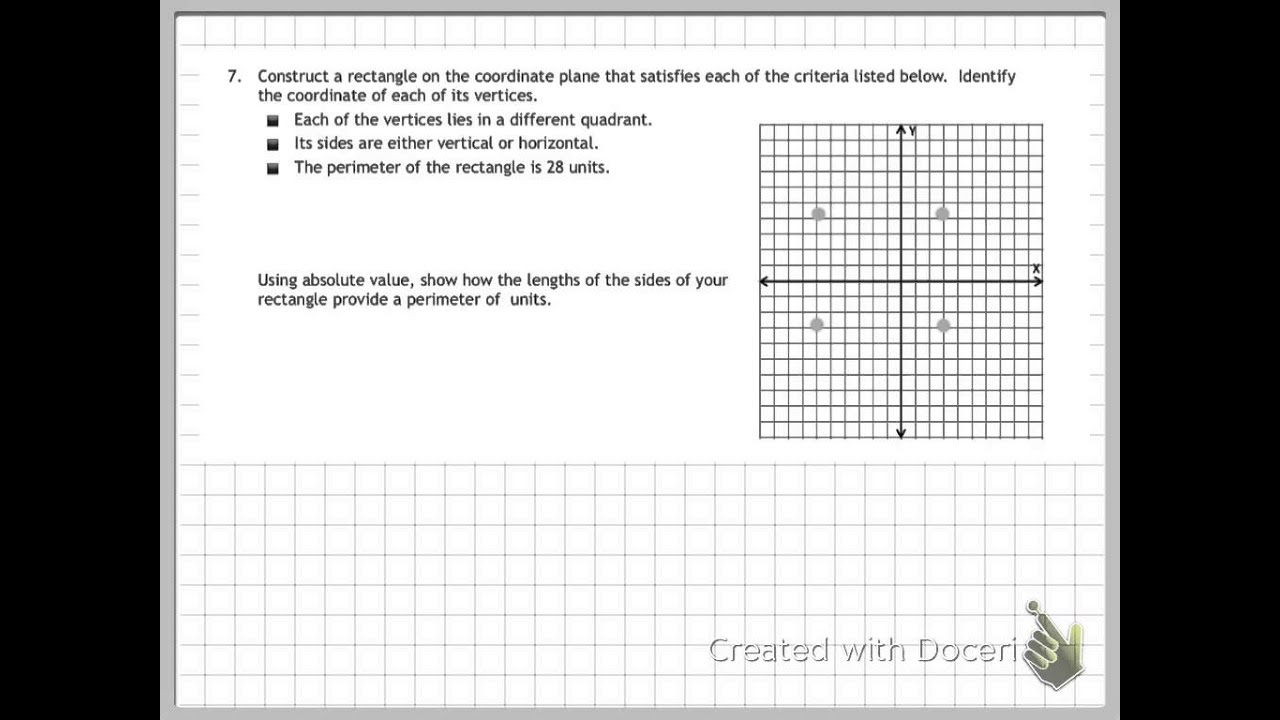 medium resolution of Problem Solving on the Coordinate Plane (solutions