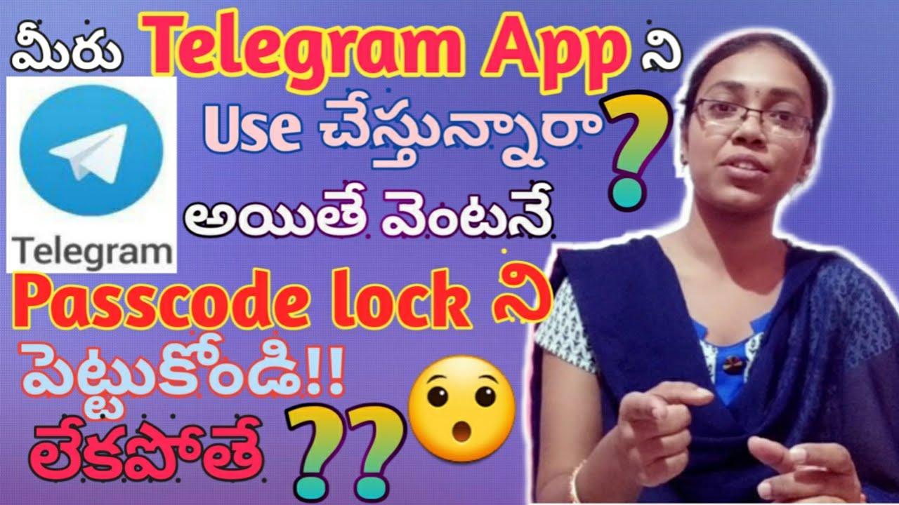 Download How to set Passcode lock system in telegram?|telegram App|in telugu|by kavya