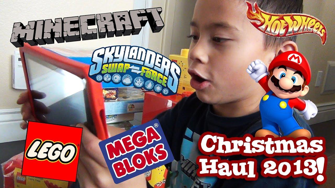 CHRISTMAS HAUL 2013 - LEGO, Minecraft, Hot Wheels, Skylanders ...
