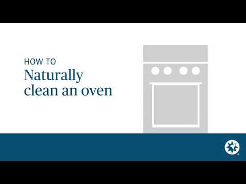 How to clean an oven quickly and naturally