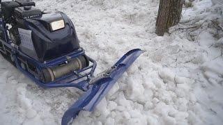 Мотобуксировщик БУРЛАК-М с реверсом и отвалом для уборки снега