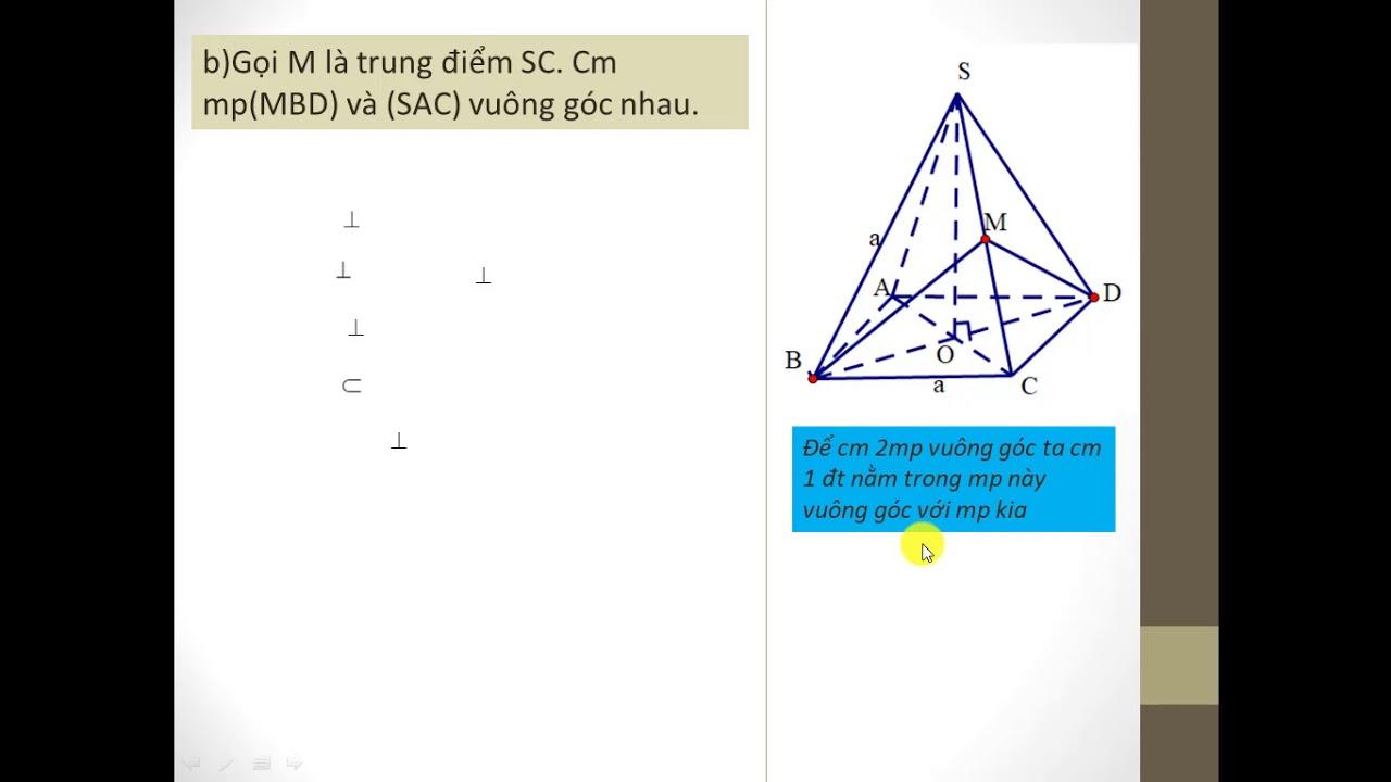 Toán 11. Bài tập 2 mặt phẳng vuông góc