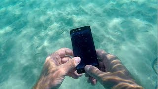 🌊💍 Found in Sea-IPhone, Giant jellyfish, Gold, Silver, Coins. Underwater metal detecting.