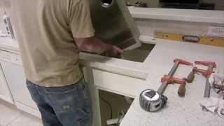 How To Install White Quartz Countertops.  Msi - Iced White - Kitchen Remodel