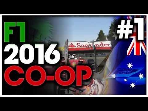 F1 2016 Co-Op Championship Part 1: FORZA FERRARI