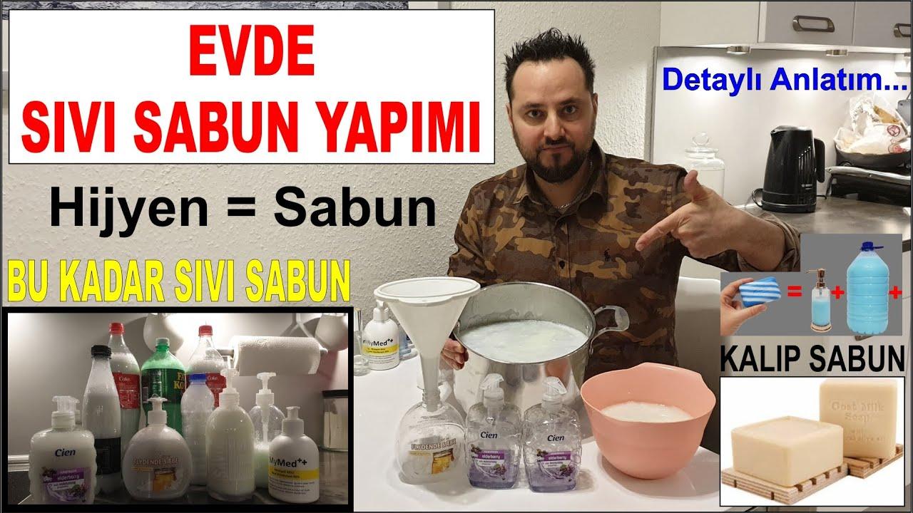 CoronaVirüs İlacı = Hijyen | Evde 6 Litre Sıvı Sabun Yapımı