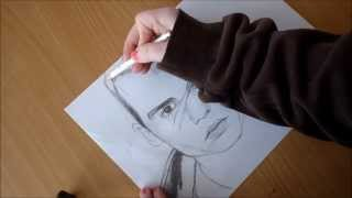 Girl(15 years old) draw Johnny Depp,Cry Baby. SeLina