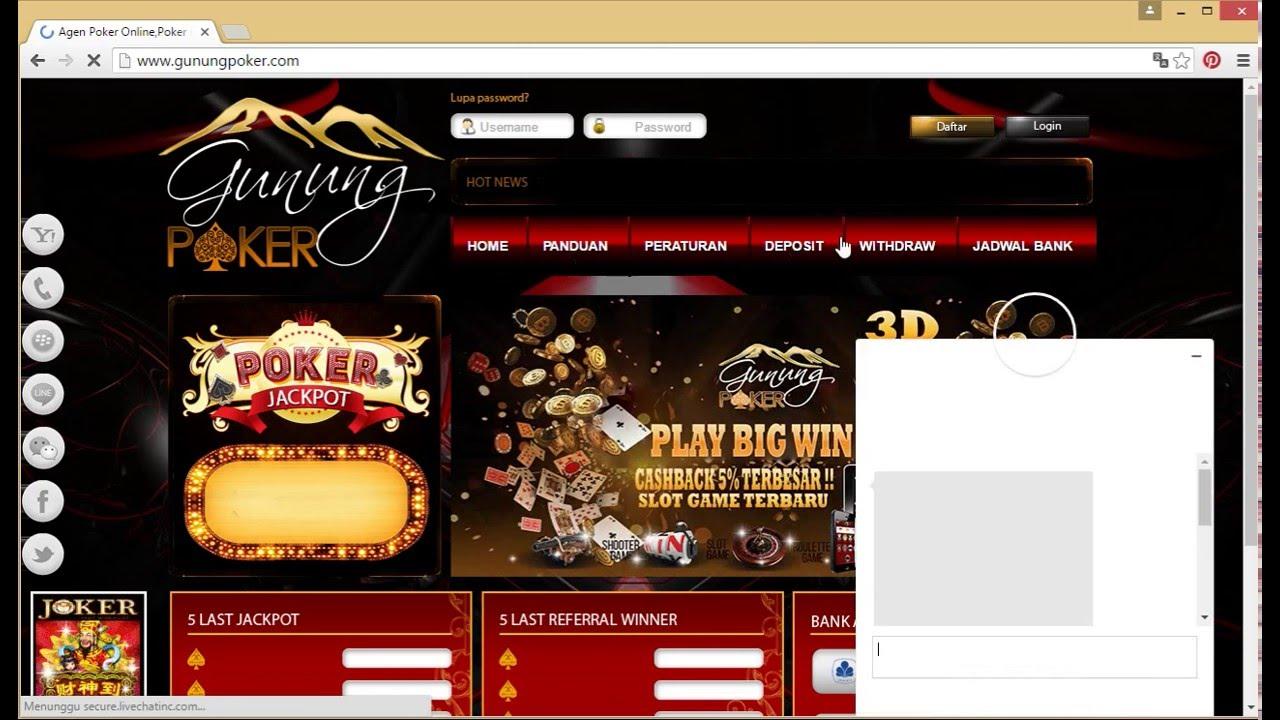 Gunungpoker Com Agen Judi Poker Online Tanpa Robot Youtube