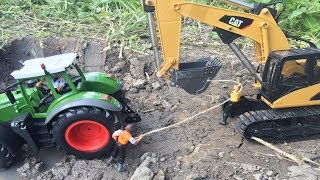 Dump Truck for Children | Bruder RC tractor trouble! Toys action | Video for kids