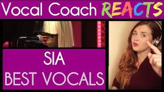 Vocal Coach Reacts to SIA Best Live Vocals