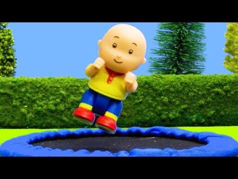 NEW! TRAMPOLINE  Funny Animated cartoons Kids  WATCH ONLINE  Caillou Stop Motion  Cartoon movie