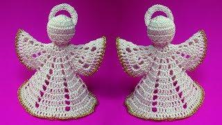 ПРЕЛЕСТНЫЙ АНГЕЛ крючком на Рождество   How to crochet christmas angel