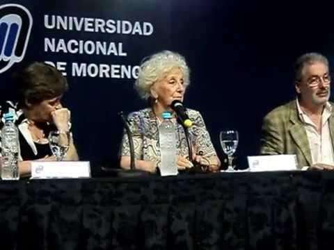 Estela Carlotto y Edy Binstock festejan 30 años de Democracia en la UNM diciembre de 2013