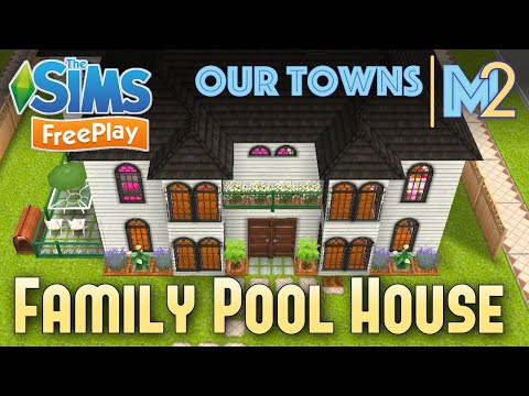 Sims FreePlay - Family House with Indoor Pool (Original Design)