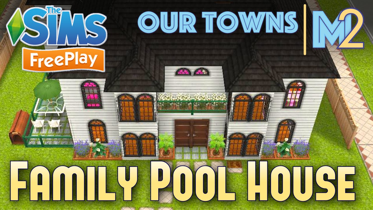 Sims freeplay family house with indoor pool original design youtube - Sims freeplay designer home ...