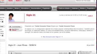 PRESENTACIÓN EN RADIO 3 TOMÁS FERNANDO FLORES SIGLO 21