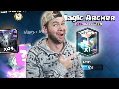 UNLOCKING MAGIC ARCHER PART 2 - NUMBER 1 Tip for DRAFT - Clash Royale - Legendary